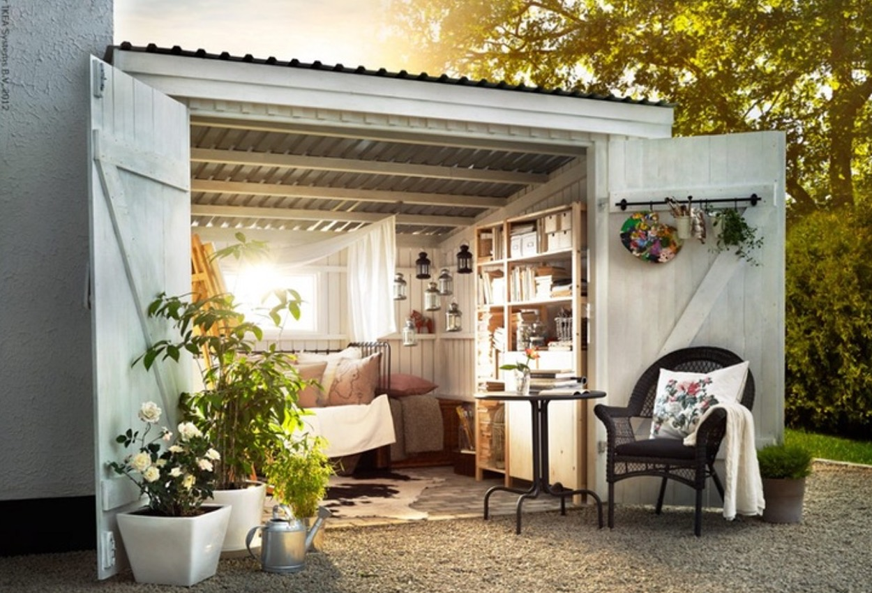 Man Cave Woman Shed : Sophie s lady shed and ben man cave workshop studio from garden